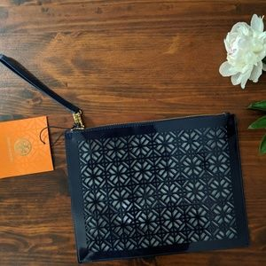 Tory Burch Accessories - NWT Tory Burch vinyl perforated zipper pouch